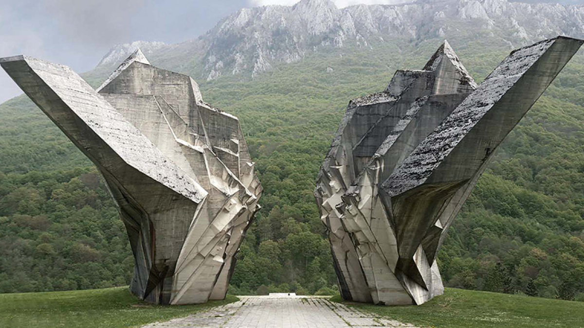 Battle of Sutjeska Memorial Monument Complex in the Valley of Heroes Tjentište, Republic of Srpska, Bosnia and Hercegovina